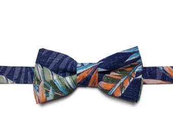 tropical BowTie, bowtie, BowTie flowered, exotic BowTie, Bowtie has flowers, gift man, bow tie wedding
