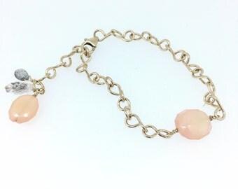 Linked Pink Chalcedony Bracelet