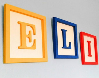 Sale- Large Toy Story 10x10 custom made Alphabet block wall decor- till july 31