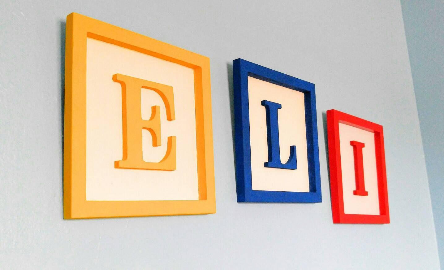 Large Toy Story 10x10 Custom Made Alphabet Block Decor