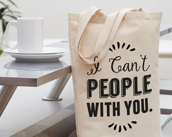 Funny Introvert Tote, boss gift, gift for mom, tote bag, funny gift, gift for wife, gift for sister, tote, tote bags