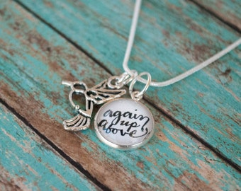 Miscarriage Memorial Necklace, Again Up Above Sympathy Gift for Infant Loss, St Zelie Quote Pregnancy Loss Jewelry, 602005