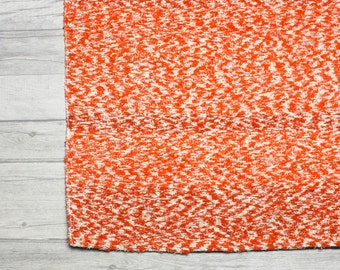 Orange Rug. Area rug, Modern rug, Bohemian rug, Kids bedroom rug, Handwoven Cotton | Eco-Friendly | Washable.