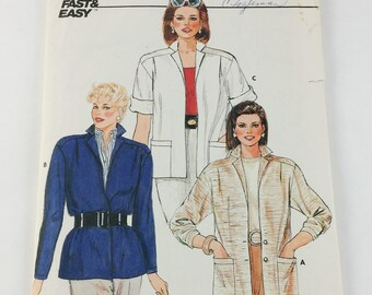 Butterick Sewing Pattern 6463 Misses Jacket Size 8 1980's