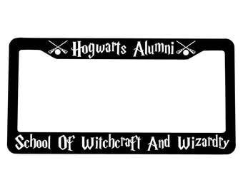 Hogwarts Alumni License Plate