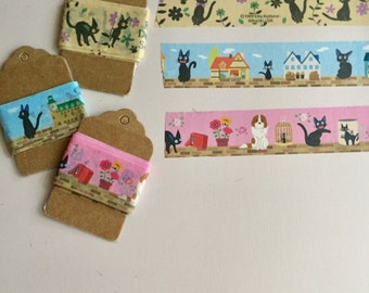 Washi Tape Samples -Kiki's Delivery Service Studio Ghibli -  Scrapbook Craft Supplies