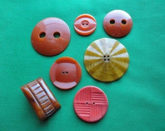 Assorted Large VintagePlastic Buttons