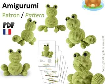 Grenouille Amigurumi Crochet Patron - Français