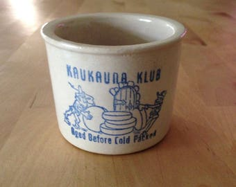 Kaukauna Klub  small crock/vintage cheese crock