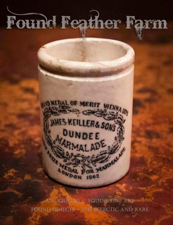 Antique Dundee Marmalade Pot from the Late 1800's England