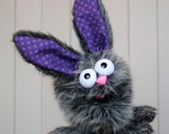 Hand Puppet - Animal Puppet - Bunny Puppet- Kitty Puppet (in one - interchangeable parts)