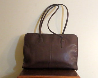 Coach Legal Tote In Mahogany Leather Style No 7307 - VGC