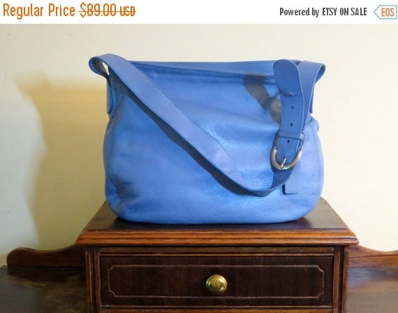 Football Days Sale Coach Soho Zip Hobo In Periwinkle Style No. 4161- Very Good Condition