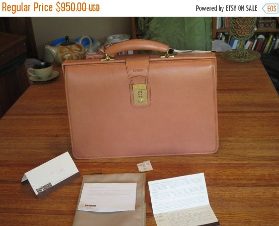 Football Days Sale Hartmann Compact Lawyer's Briefcase Attache- New with tags- Out of Production- One of a Kind