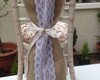 Hessian/Burlap Chair Sash/Drapes Pack of 50