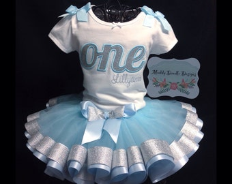 ONE 1st Birthday Personlized Applique Tutu outfit