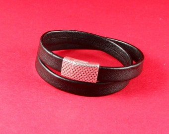 5/8 MADE in EUROPE zamak clasp,  flat cord clasp, 10mm flat cord clasp, leather cord clasp (9624-0377) Qty1