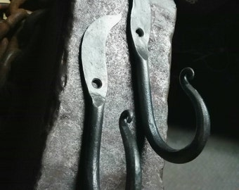 Hand Forged J Hook matched set.