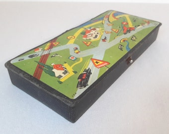 vintage french pencil box 1950's