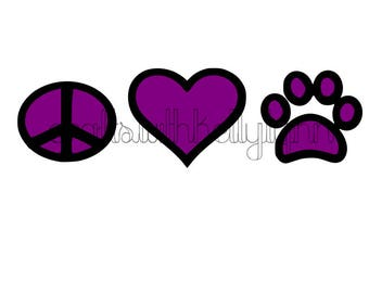 Peace Love Dogs SVG file *Instant Download*