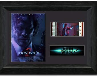 John Wick: Chapter 2 35 mm Framed Film Cell Display Stunning Collectible Keanu Reeves
