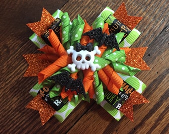 Halloween Stacked Korker Hair Bow