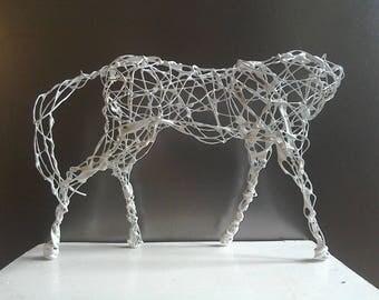 White Horse. Handmade original sculpture.