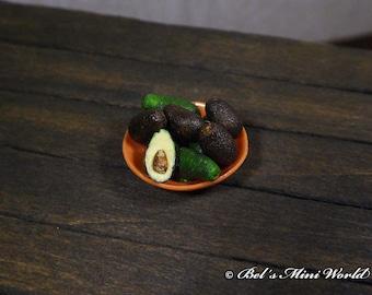 12th Scale handmade miniature Avocados Porcelain Bowl