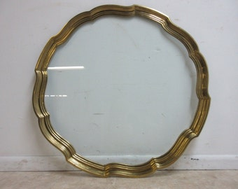 Vintage Brass Scallop Coffee Table Top Serving Tray