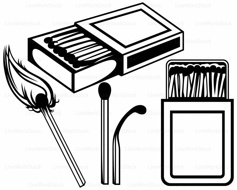 Matches box svg,clipart,matches svg,box silhouette,matches cricut ... for Matches Clip Art  75tgx