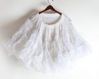 Vintage White Crinoline Petticoat