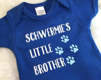 Little Brother Outfit - Fur Siblings - Dog Brother - Dog Sister - Cat Sibling - My Siblings Have Paws - Animal Lover Baby Gift - Little Bro