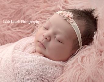 Blush Flokati Faux Fur, Photo Prop, Flokati, Baby Photo Prop, Newborn Photography, Faux Fur Rug, Baby Prop, Baby Blanket, Long Hair Fur