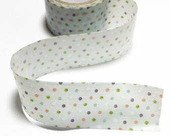 Colorful Dots Washi Tape /  Colorful Dots Decorative Tape / Polka Dots Masking Tape / Pastel Washi Tape 10m c08