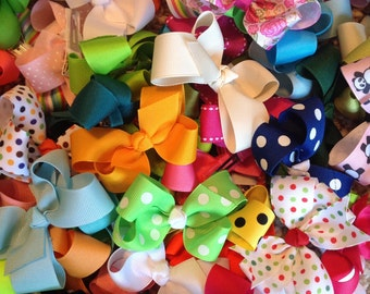 Clearance, sale, hair bows, girls bows, resell lot, wholesale lot, baby bows, small hair bow, grab bag, boutique bow, hair bows