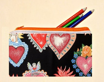 Frida Kahlo, Cosmetic Bag,Cute Frida Styles,Colorful Mexican Art, Artsy,Makeup,Small,Pouches,School Supplies,Birthday Gift
