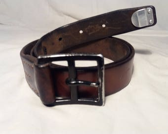 Vintage 1955's Swiss Army Soldier Leather Belt