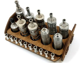 Vape stand for atomizers-drip tips wood(walnut)