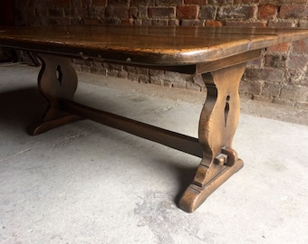 Beautiful Table Rustic Cottage Solid Oak 19th Century