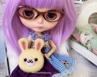 SALE Blythe Bunny Head Plush room/bed companion