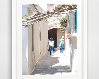 Street photography, wall prints, street alley, greek islands, cool poster, photo art, Naxos Greece, wall pictures, greek art, wall art decor