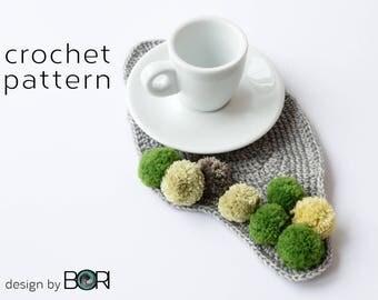 handmade crochet coffee placemat pattern
