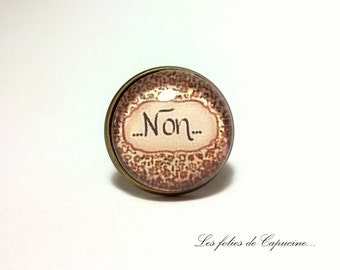 Yes or no • glass cabochon ring