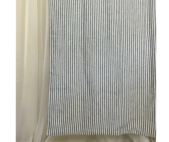 Navy And White Striped Shower Curtain Mildew Free 72x72