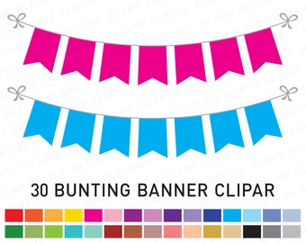Baby Girl Bunting Banners Party Flags clipart Cute pennant