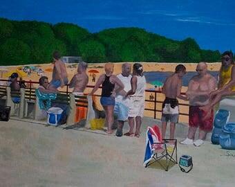 """Puerto Rican Art Poster - """"El Jangueo"""""""