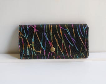 15% OFF Multicolor Leather Wallet for Women, Card Holder Wallet for Women, Printed Leather Wallet, Multicolor Leather Wallet