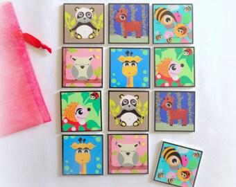 Animals Memory for child 12 game cards / 6 pairs, memory game, game of awakening, memory easy