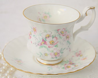 Vintage Royal Albert Bone China 'Spring Ballet' Lady Size Cup and Saucer, England