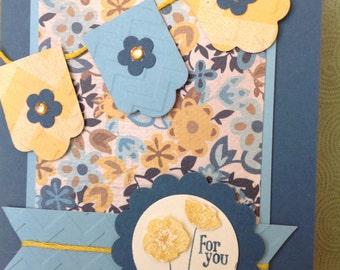 Handmade card- all occassion-for you-male or female- blank card-friendship card- friend card- birthday card-thank you card